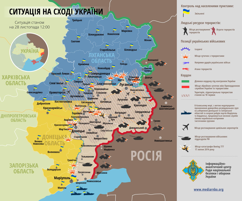 где сейчас идут бои в Луганской области